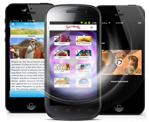 Biblia Superlibro, Video + Juegos App