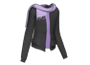 Black Jacket Purple Scarf