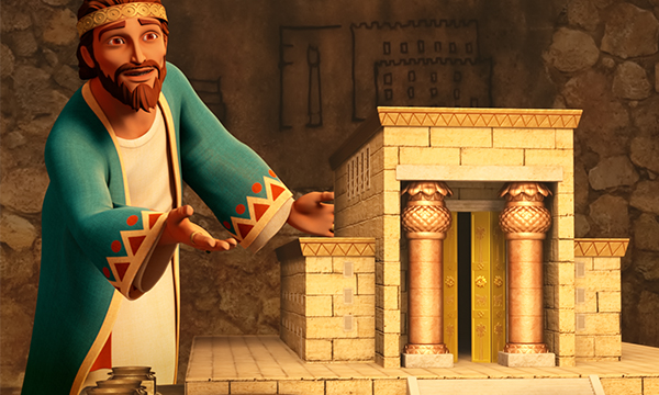 King Solomon Shows the Temple