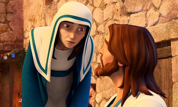 Mary Asks Jesus