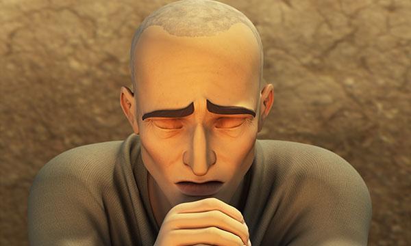 Iov se roagă