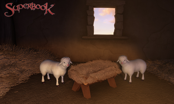 The First Christmas - Sheep by the Manger