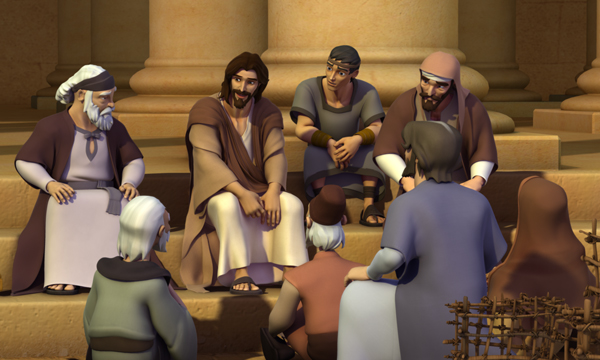 The Last Supper - Jesus Teaches at the Temple