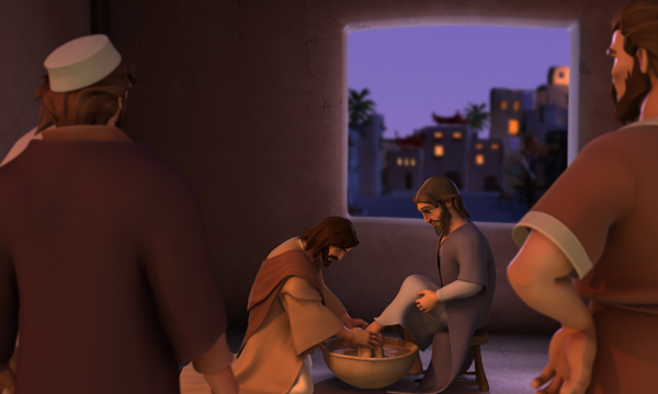 Jesus Washes John's Feet