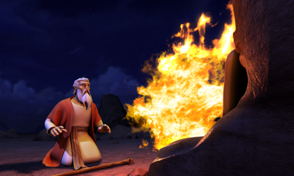 The Ten Commandments - Moses and God