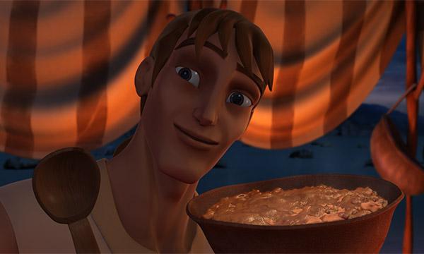 یعقوب و عیسو - غذای خوشمزه