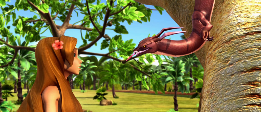 La început - Eva și şarpele