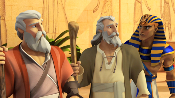 Moses and Aaron Meet the Pharaoh