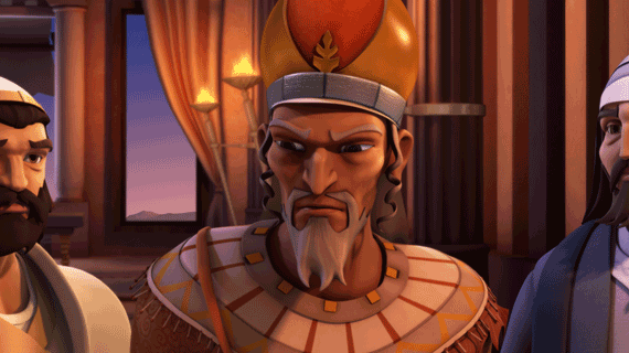 هیرودیس پادشاه خشمگین میشود.