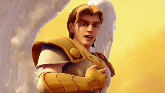Arhanghelul Mihail în cer