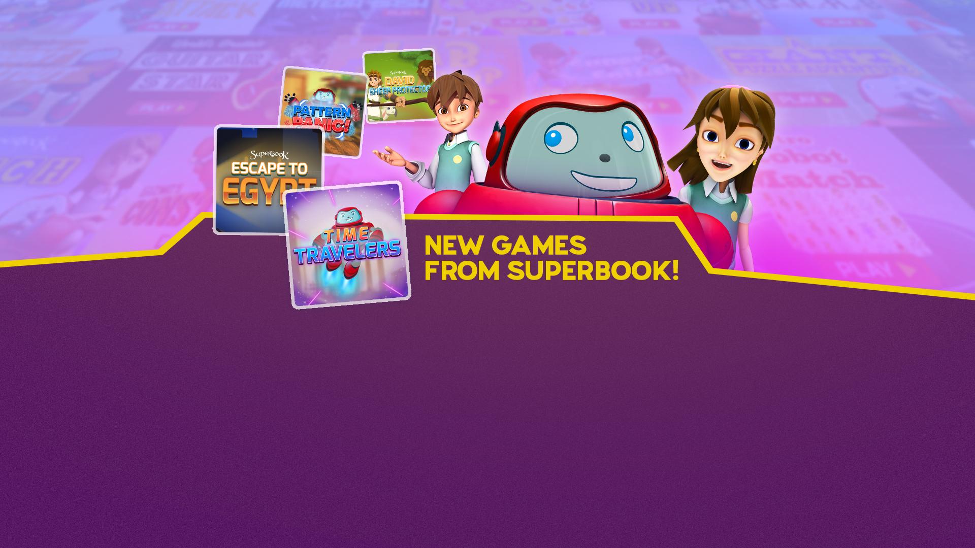Superbook Kids Website Free line Games Bible Based Internet