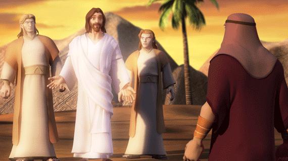 سه مهمان  ابراهیم