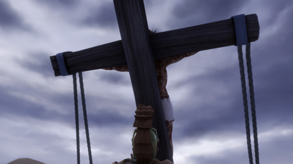 Jesus is Hung on the Cross