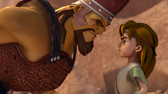Golyat Davut'la Karşılaşır