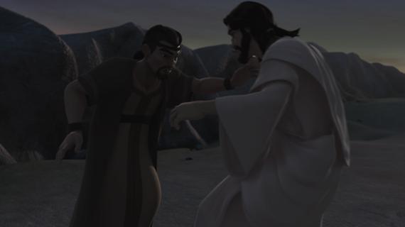 Jacob lucha con Dios