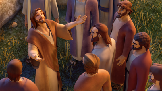 Jesus Teaches His Disciples How To Pray