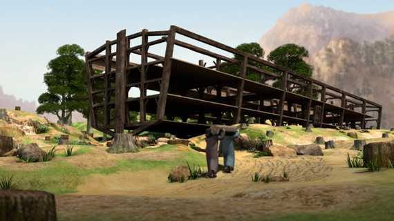 Ной строит ковчег
